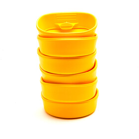 Wildo Fold-A-Cup Set d'autocollants Unicolore 6x, lemon
